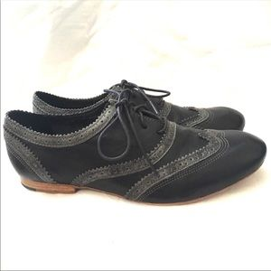 Leather Wingtip Oxfords- J Brand/Anthropology